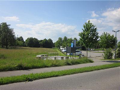 Fahrradinsel Parkplatz