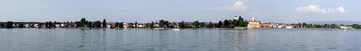 Langenargen Ort vom See k