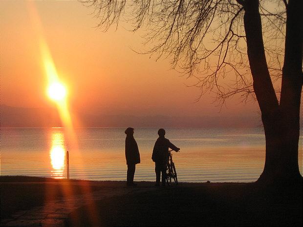 Langenargen Promenade Sonnenuntergang k
