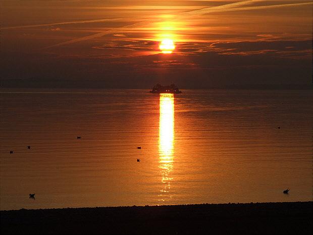 Langenargen Sonnenuntergang mit F�hre k