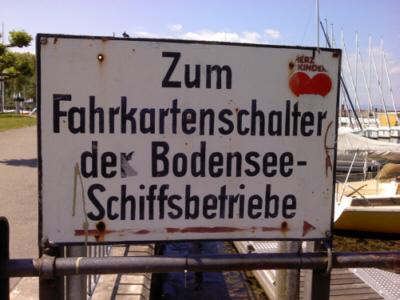Schild Hafen